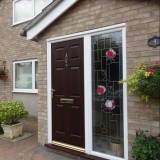 Rosewood composite door with bespoke sidescreen