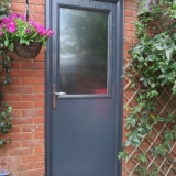 Anthracite grey Door-Stop garage door