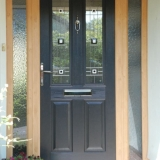 Lodlow Solidor in Black with Irish oak frame