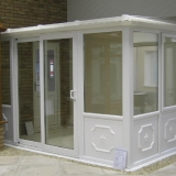 Lean-to conservatory with EuroSlide door