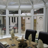 P-shaped conservatory - Inside view
