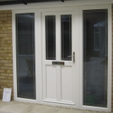 Eurologik door with Oxford leaded glass