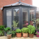 Anthracite grey conservatory